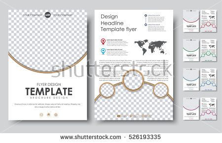 Template color flyers A4. Design 2 pages booklet with circles for a ...