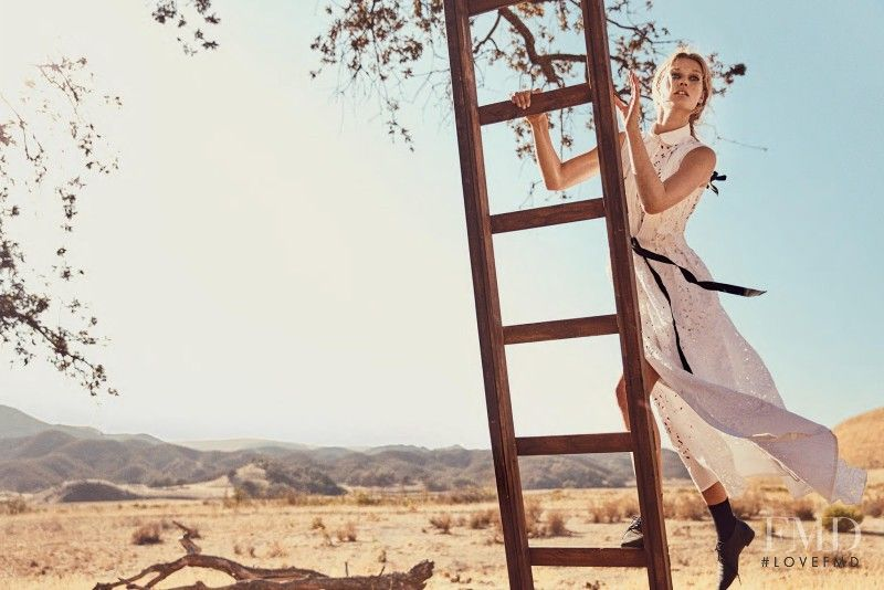 Prairie Rose in Porter with Toni Garrn - Fashion Editorial | Magazines | The FMD #lovefmd