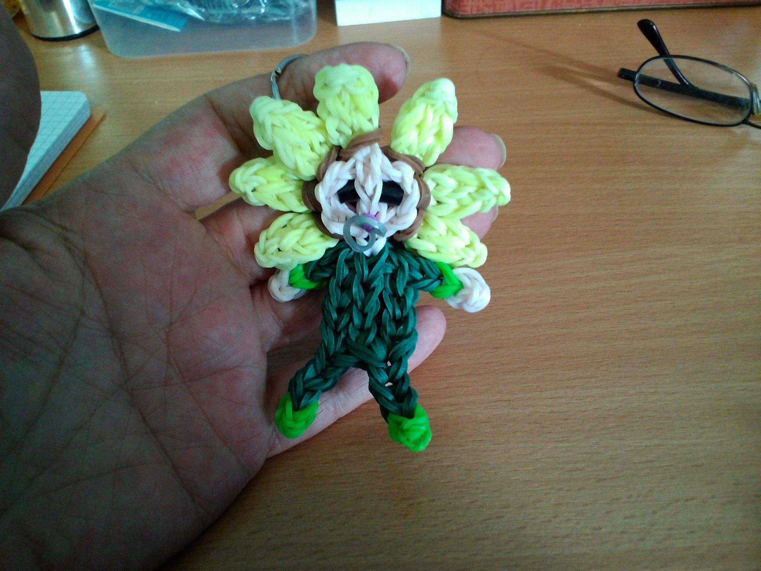 flower baby sleutelhanger