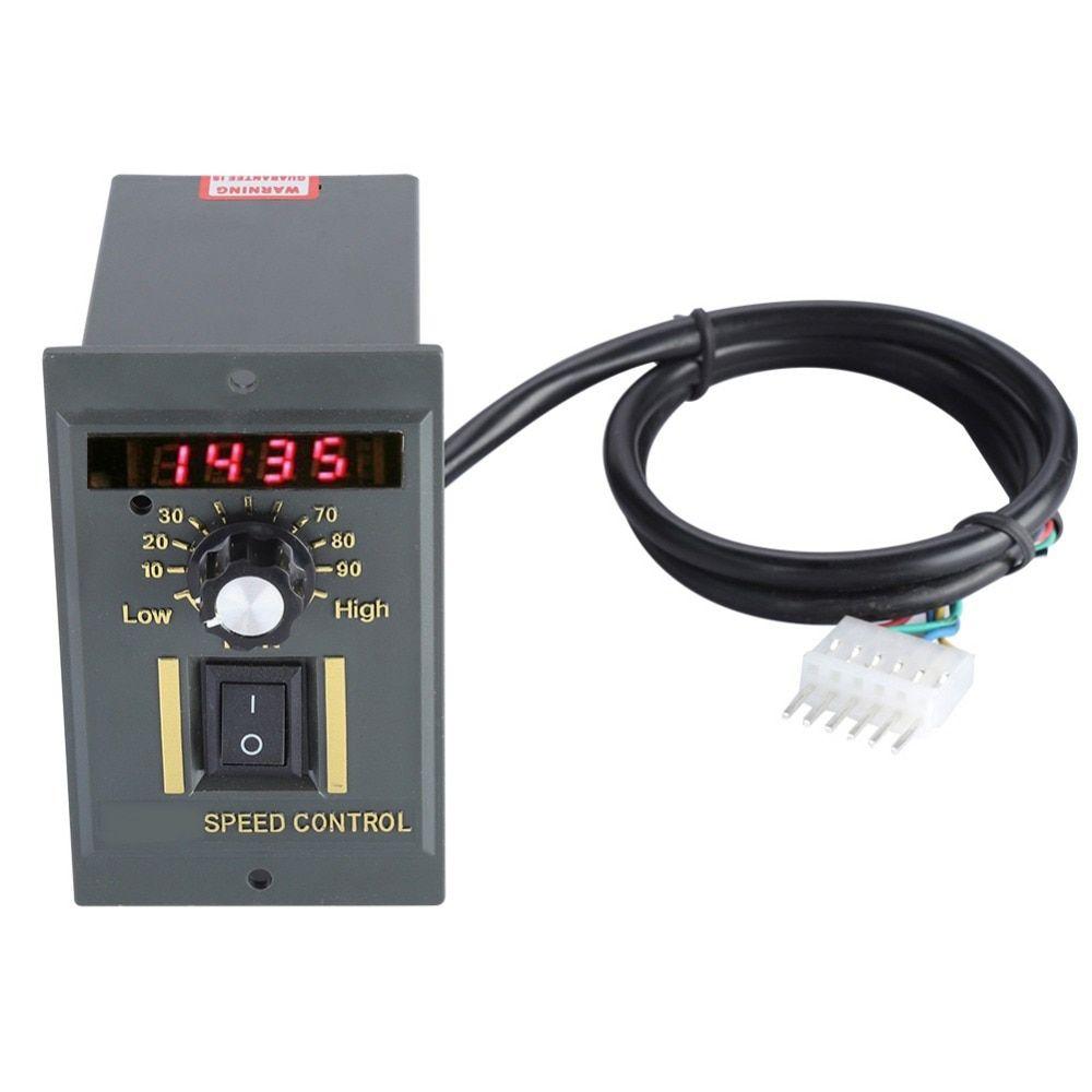 Ac 220v Motor Speed Controller 50hz 400w Digital Adjustable Stepless Plc Motor Speed Controller 0 1450rpm Speed Regulator Aliekspres Motor Speed Speed Digital
