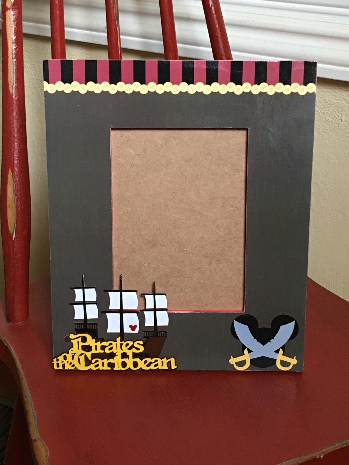 Pirates Of The Caribbean Inspired Picture Frame Disney Memories