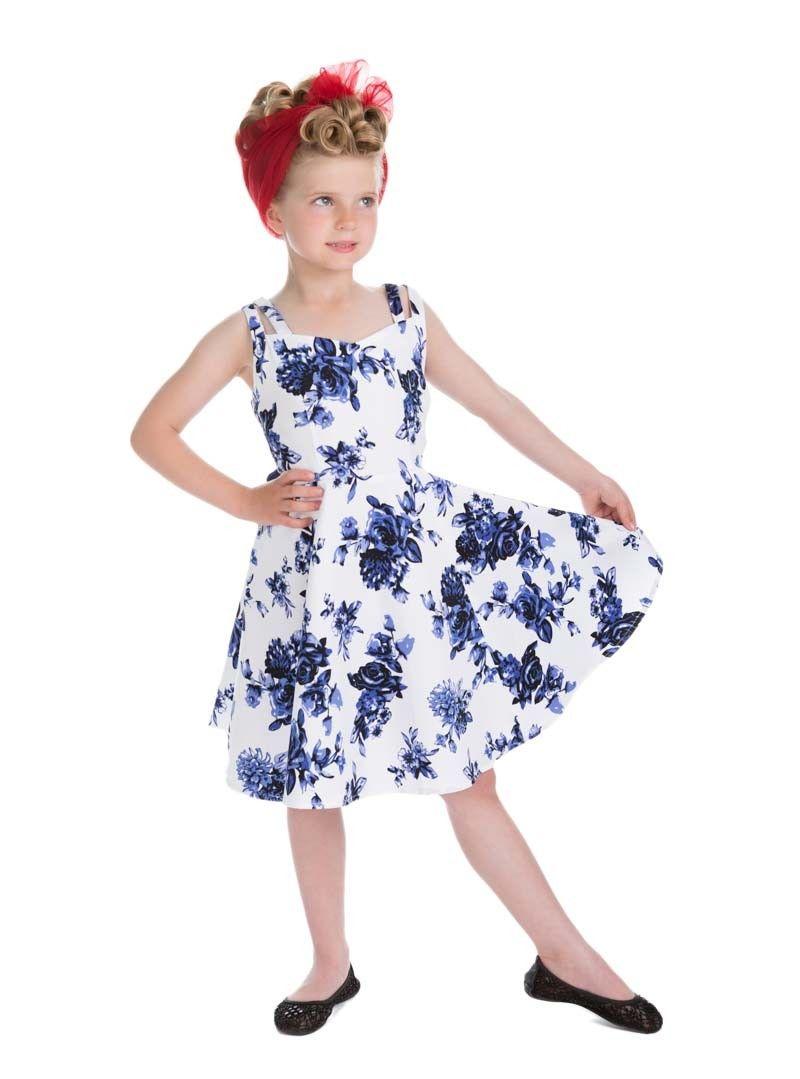 Robe Enfant Fille Rockabilly Pin-Up Vintage HR London   Vêtements ...