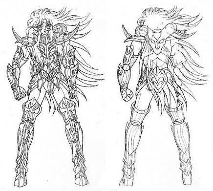 Cavaleiros Do Zodiaco Para Colorir E Pintar Anim Dibujo Sketches