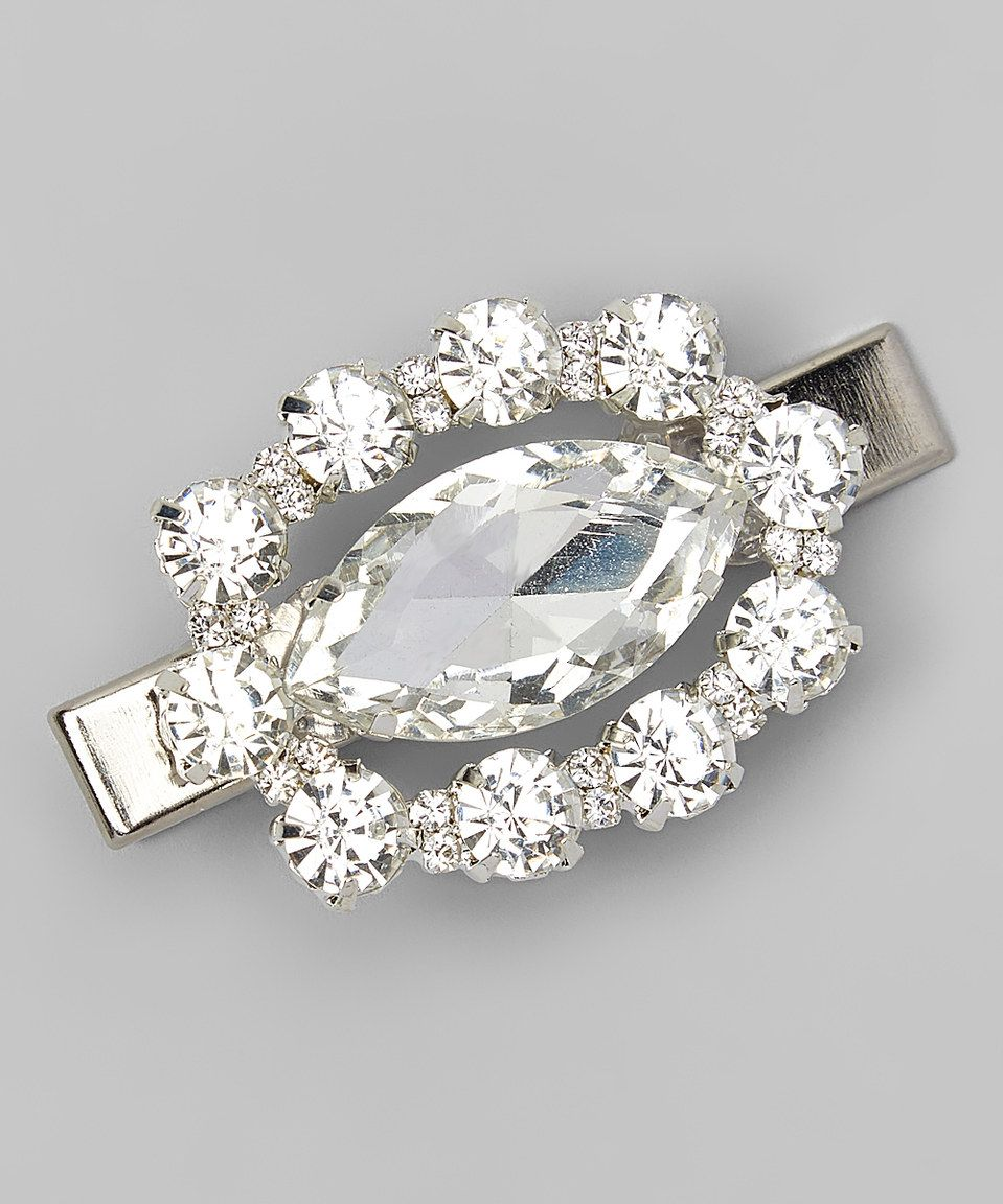 Another great find on #zulily! Charlotte Rose Couture Silver Oval Rhinestone Hair Clip by Charlotte Rose Couture #zulilyfinds