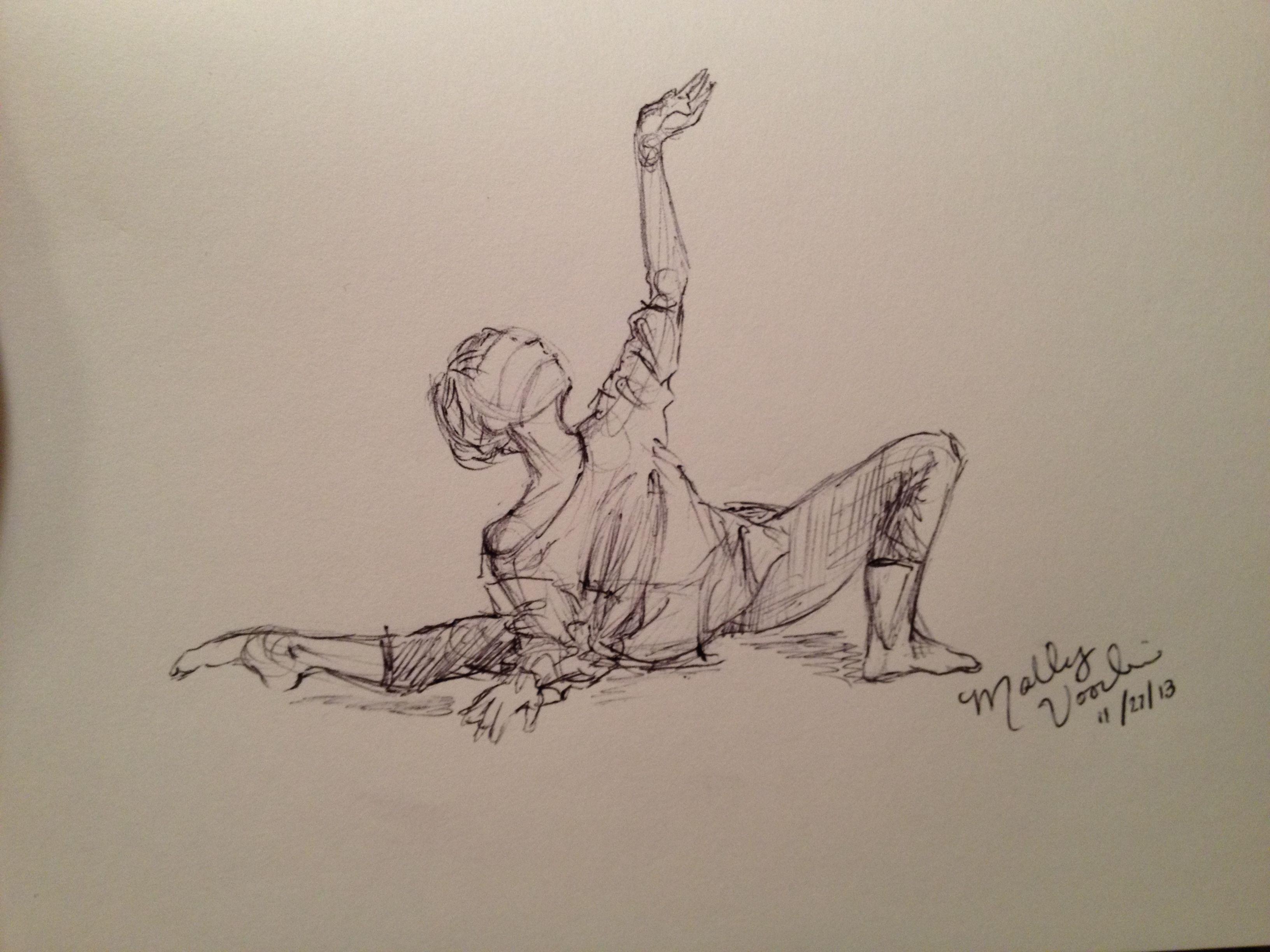 Dancer Sketch Mgv Ballerina Sketch Dancing Drawings Art Sketches