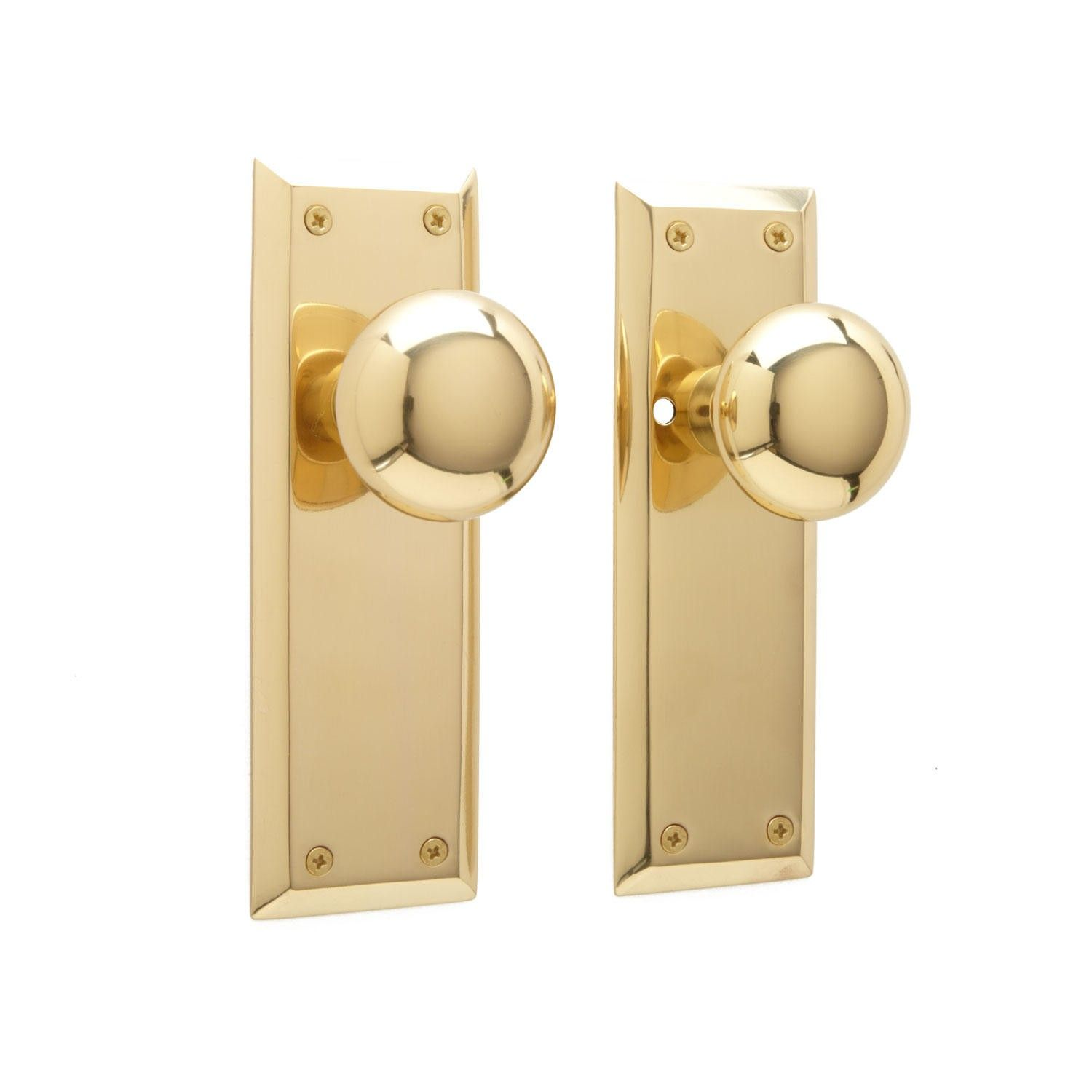 new york door knob plate set privacy passage and dummy door