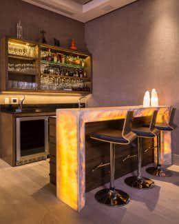 San patricio terrazas de estilo por rousseau arquitectos - Barra de bar en casa ...