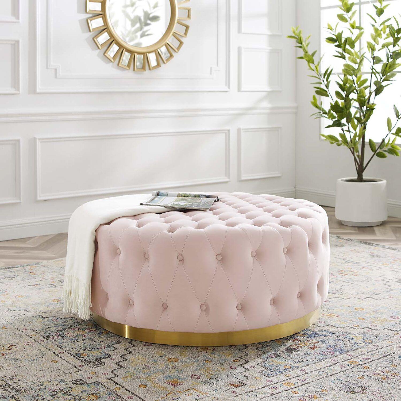 Ensconce Pink Ottoman Eei 4326 Pnk Modway Furniture Ottomans In 2021 Round Ottoman Coffee Table Round Ottoman Round Tufted Ottoman [ 1500 x 1500 Pixel ]
