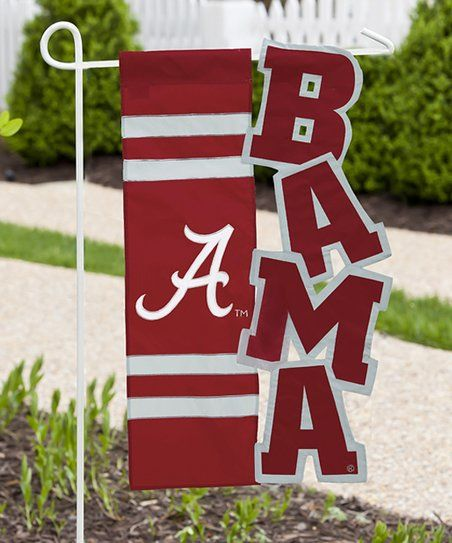 Team Sports America Alabama Crimson Tide Sculpted Garden Flag | Zulily