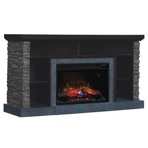 Matterhorn TV Stand with Electric Fireplace Caribbean Mahogany 60
