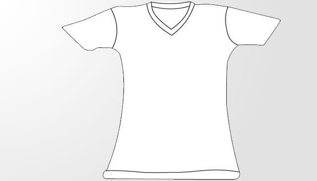 V Neck T Shirt Template Women