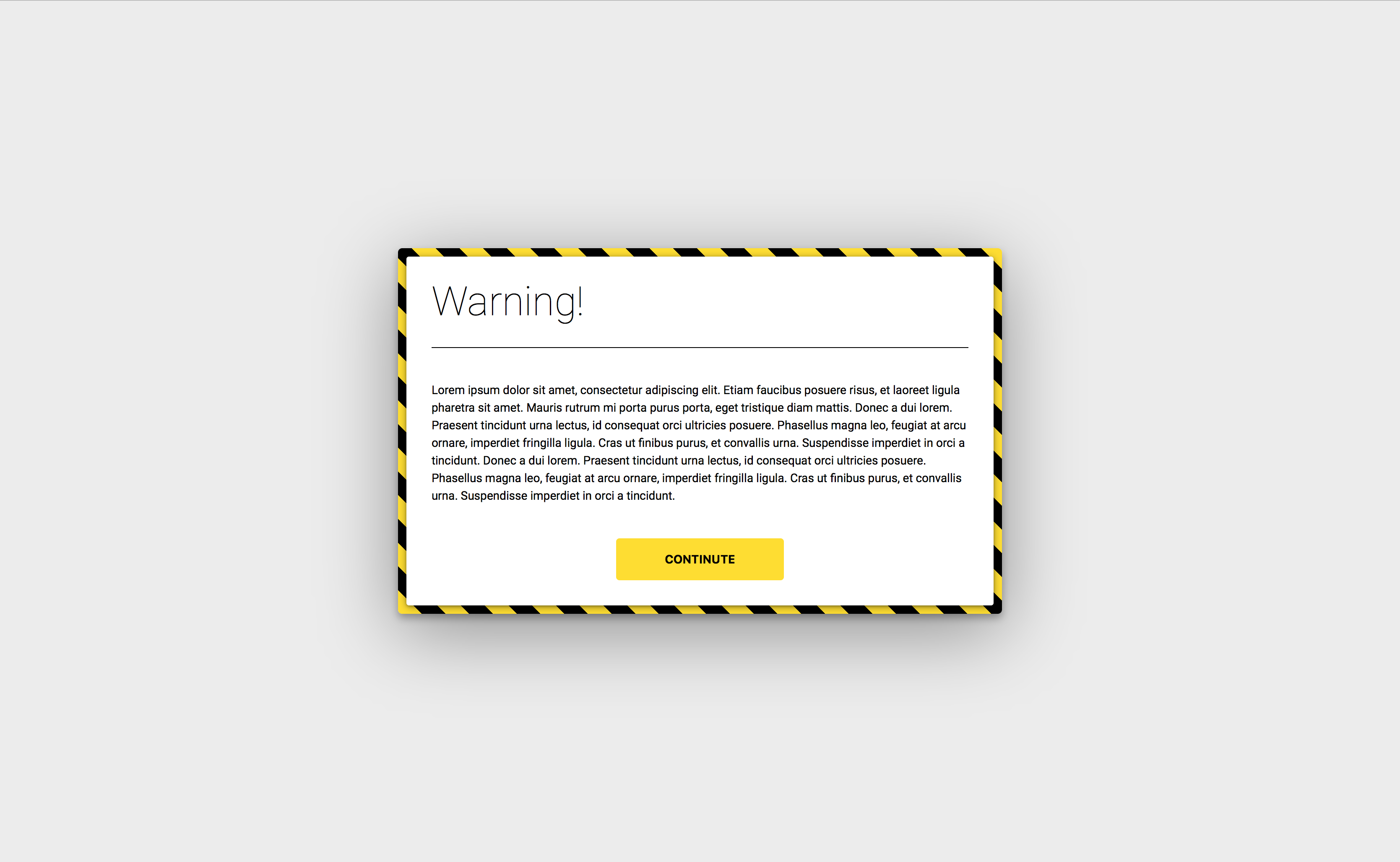 Quick CSS only warning modal   UI speed run   Cards against