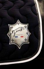 Tapis Herv Godignon Bleu Nuit Blanc Horse Fashion