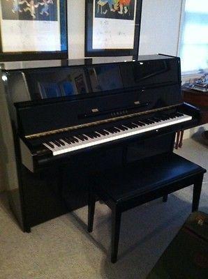 yamaha p2e upright piano black w bench my favorite things
