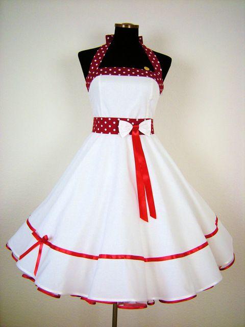 Petticoatkleid Brautkleid graues Band 50er Jahre Kleid Rockabilly by ...