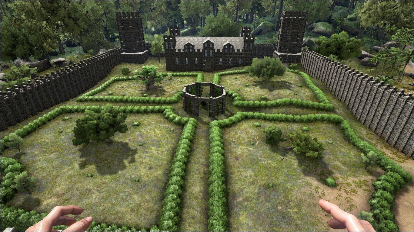 Castle Courtyard By Nuke1985 With Images Ark Survival Evolved