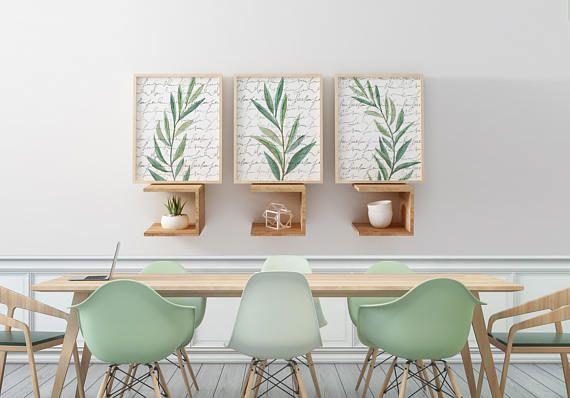 Eucalyptus Art Prints Watercolor Wall Art Neutral Artwork Dining Captivating Wall Art For A Dining Room Design Decoration