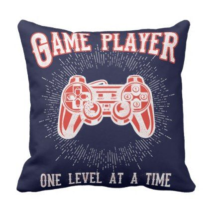 Game Room Video Game Player Throw Pillow dorm decor college diy