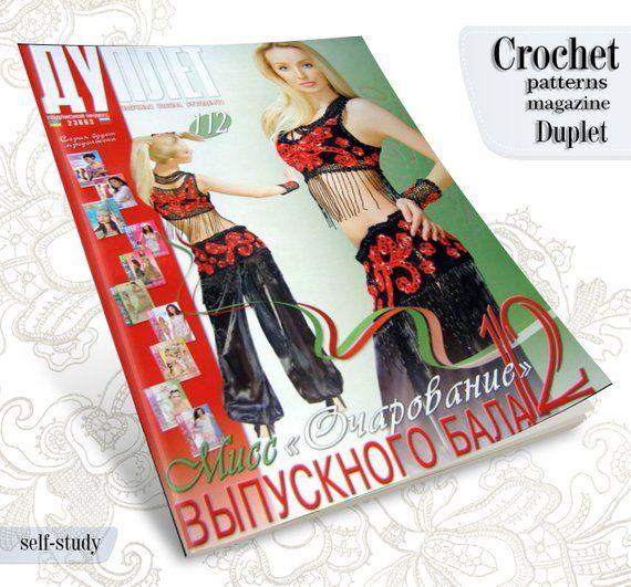 Irish Lace Top, Dress in Crochet pattern magazine Duplet 112 Self Study tutorial #irishlacecrochetpattern