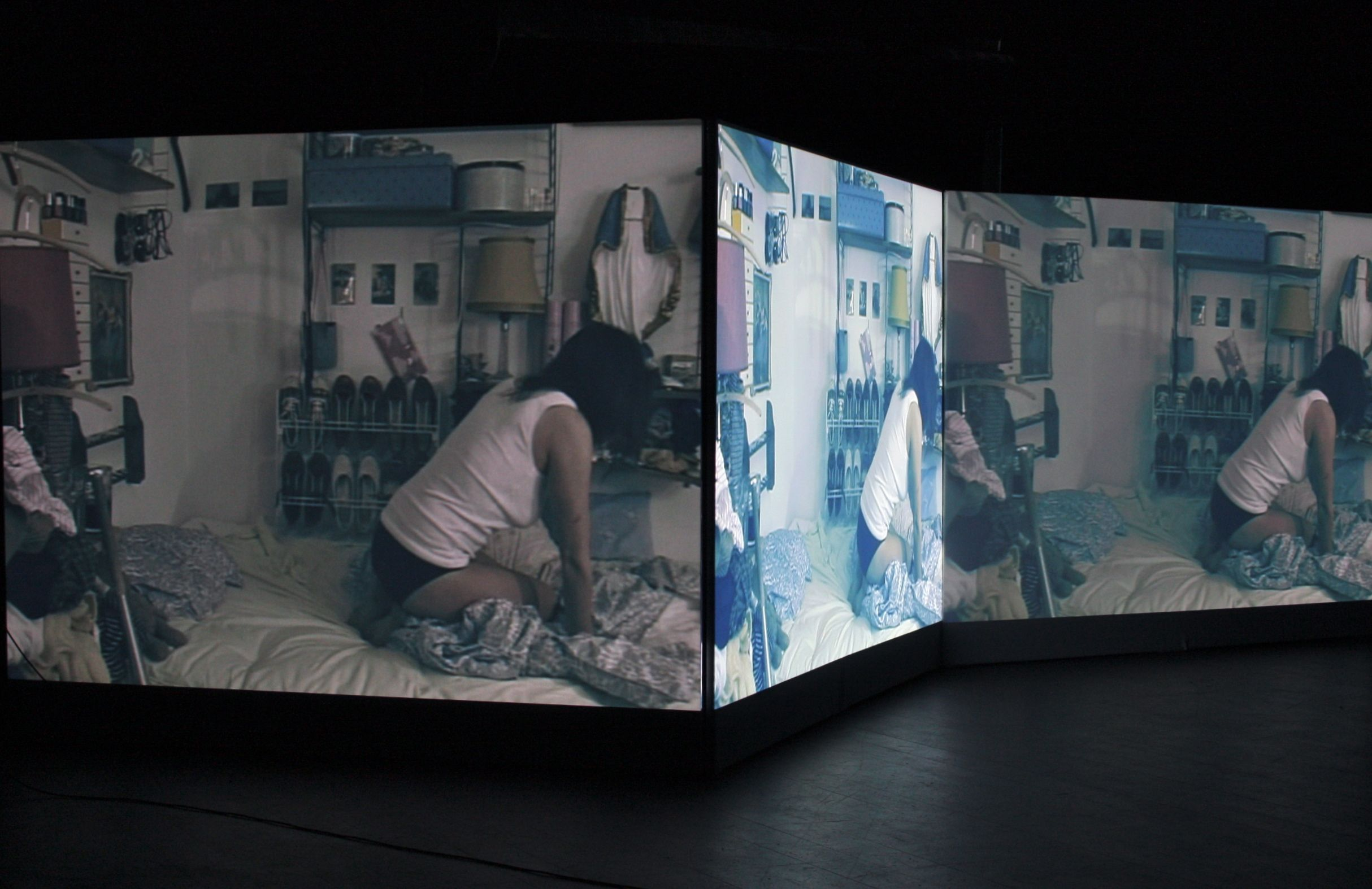 Video installation by Amanda Monceau With Rebecca Ferguson