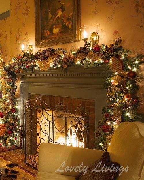 52 Stunning Christmas Mantel Decorating Ideas 🎅 Mantel decor