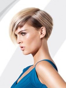 Creative Color Undercut Paneling women short hair