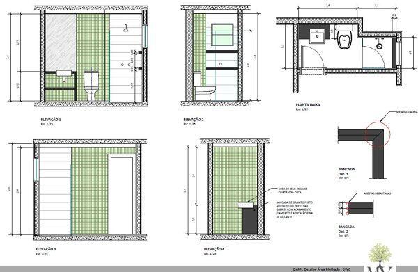Detalhamento Banheiro Em 2019 Detalhes Da Arquitetura