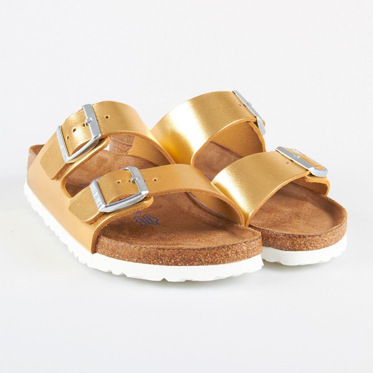 Birkenstock Arizona Metallic Gold, Birkenstock - iloveshoes.dk