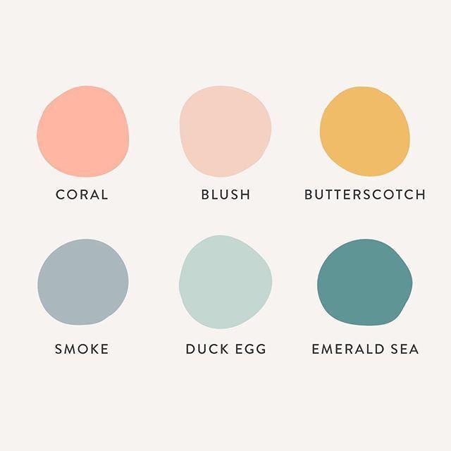 Eine frische und feminine Farbpalette für das Make-up-Business. - #brandi #wallpaintingideas