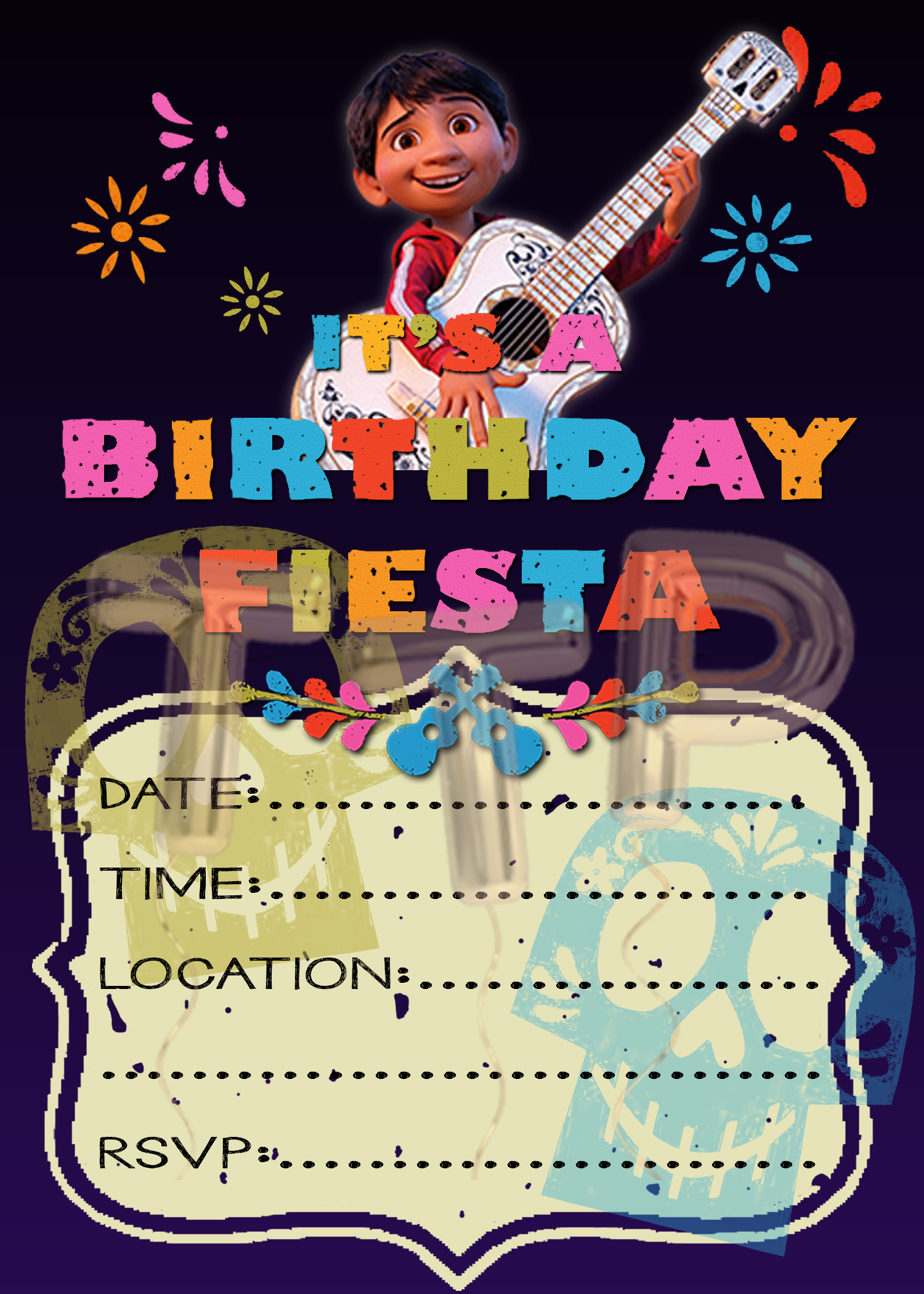 Party Invitations Party Invite Template Birthday Party Invitation Templates Diy Birthday Invitations