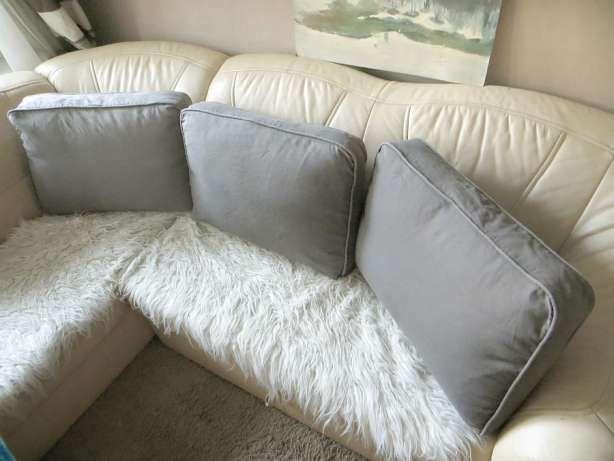 Ikea 3 Duże Szare Poduchy Dekoracyjne Na łóżko Kanapę
