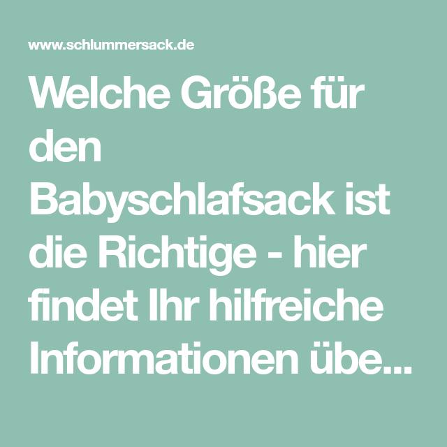 Welche Größe für den Babyschlafsack ist die Richtige