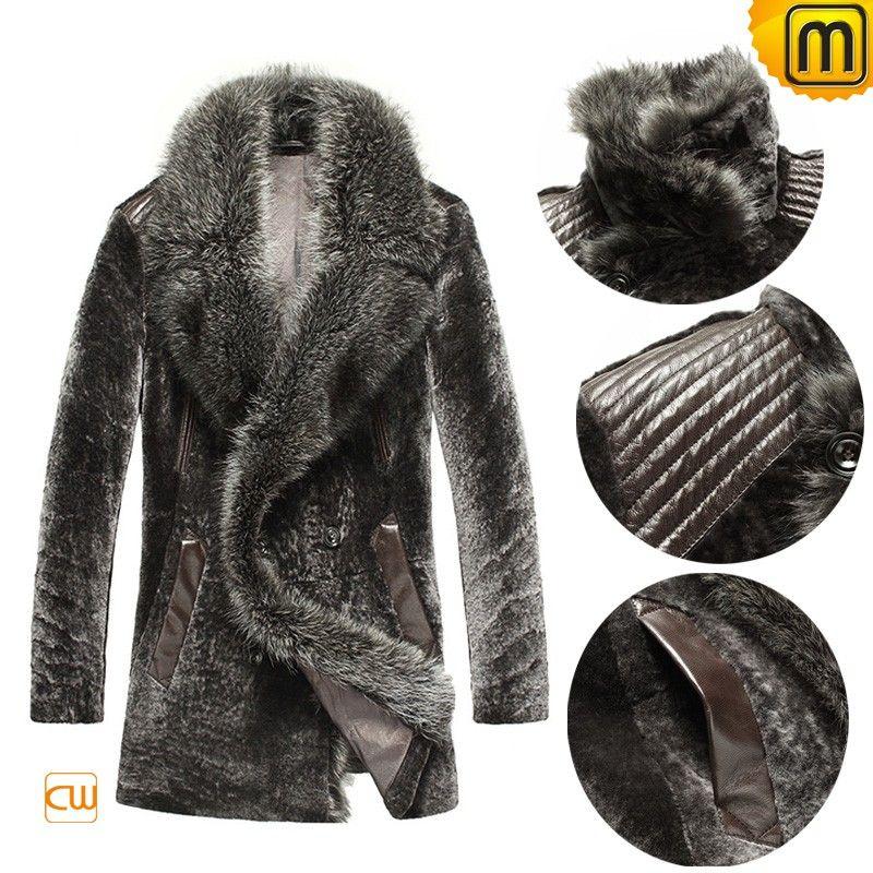 Russian Shearling Coat for Men CW868006 | Men's Fashion Fly ...