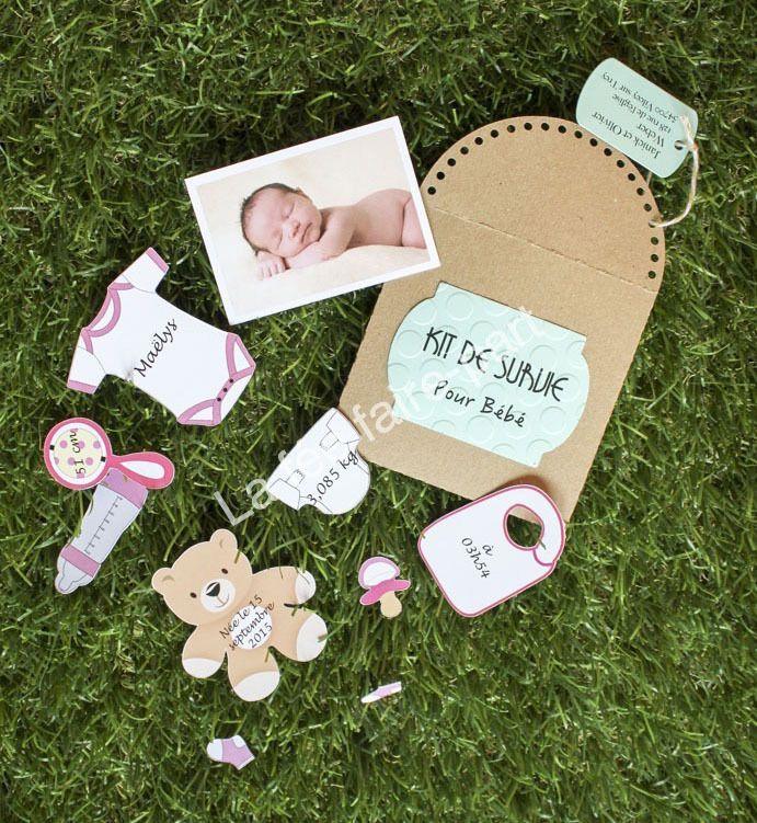 Belle Handmade personnalisé New Baby Girl Carte