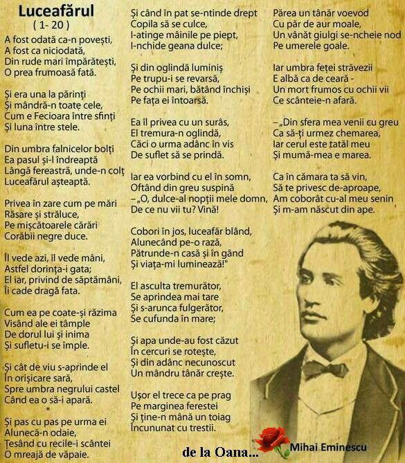 Luceafarul de Mihai Eminescu, Poezii romanesti, opere celebre | True words,  Poetry, Quotes