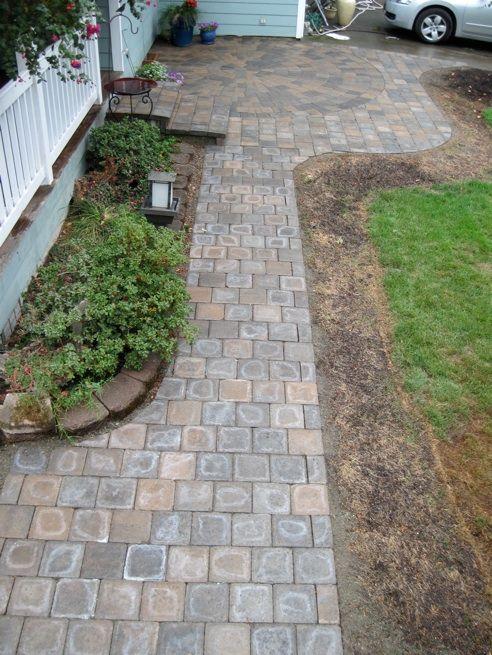 walkways patios driveways interlocking concrete pavers