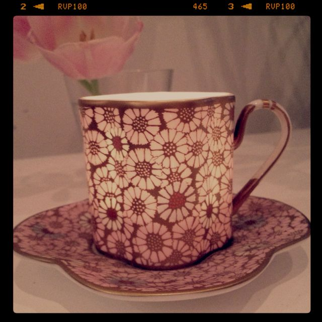 Wedgwood Harlequin tea cup, too pretty to be hidden away
