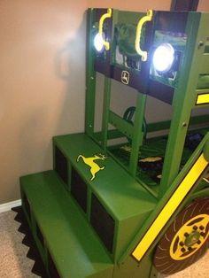 John Deere Tractor Bunk Bed- i like the front ladder/steps