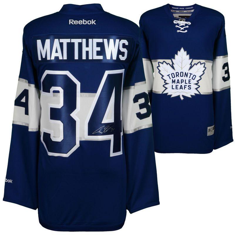 f33e27a3ce4 Auston Matthews Toronto Maple Leafs Fanatics Authentic Autographed 2017  Centennial Classic Reebok Premier Jersey