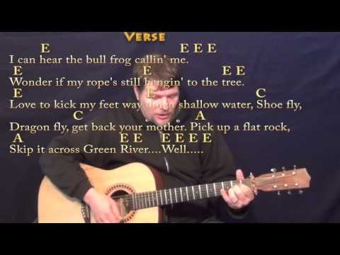 Green River Ccr Strum Guitar Cover Lesson With Chordslyrics