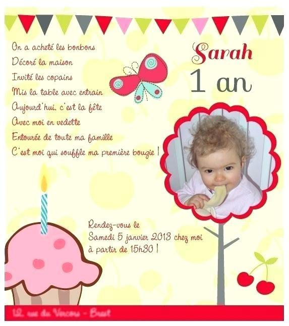 texte d invitation anniversaire fille