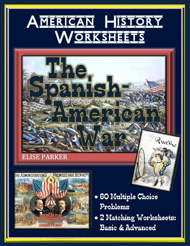 American Imperialism Worksheets Set 2 The Spanish American War