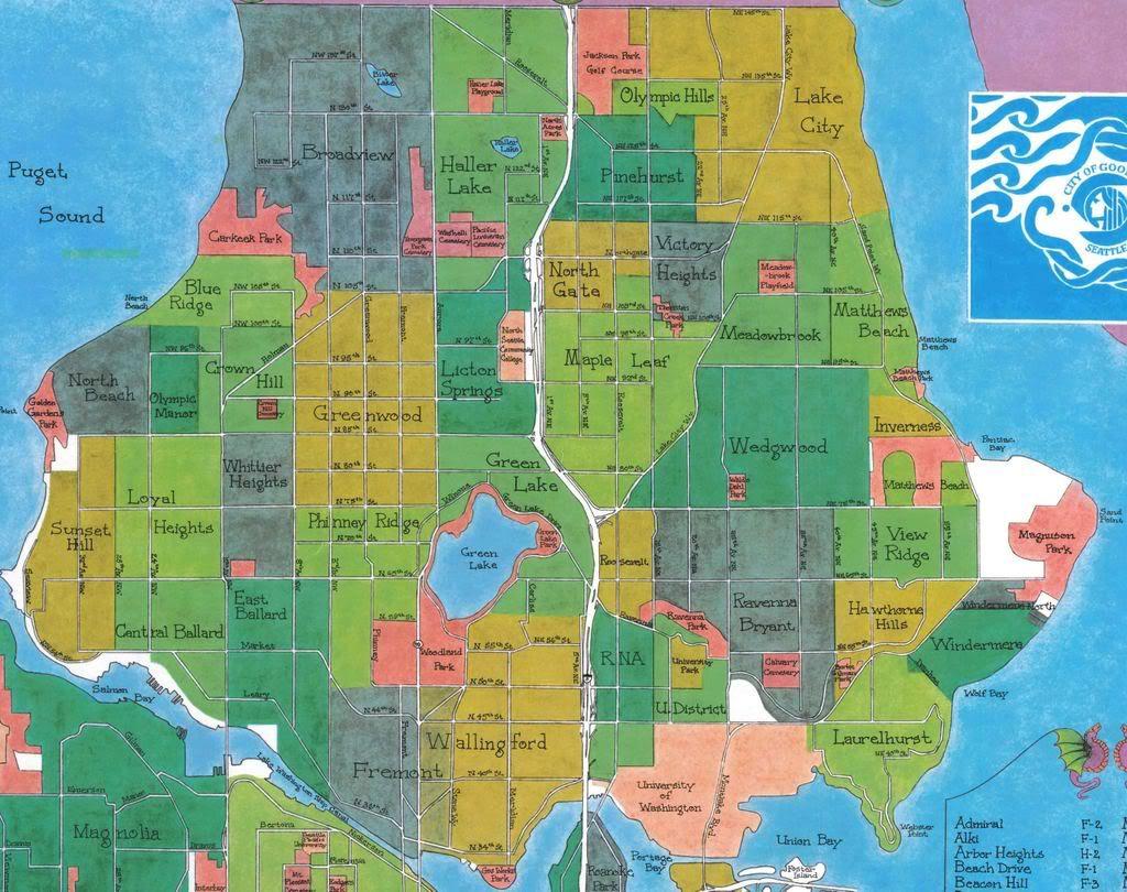 North Seattle Neighborhood Map Chicago Map