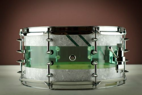 Custom 14x7 Hybrid Snare Drum. Keller Maple / RCI Coke bottle ...