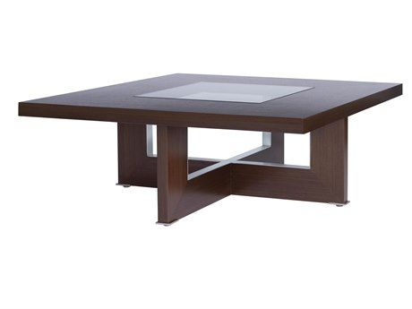 Allan Copley Designs Bridget 40 Square Coffee Table Stainless Table Table Contemporary Coffee Table