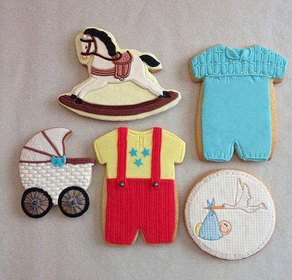 Baby Boy or Girl Shower Gift Cookies by RuthiesCookies on Etsy