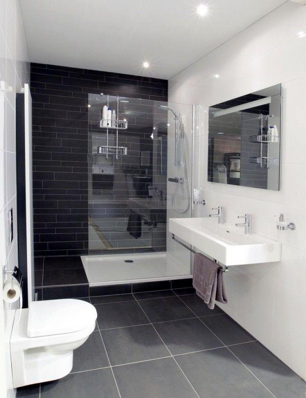 kleines badezimmer mit guter aufteilung bodenfliesen und dusche anthrazit mit wandfliesen weiss. Black Bedroom Furniture Sets. Home Design Ideas