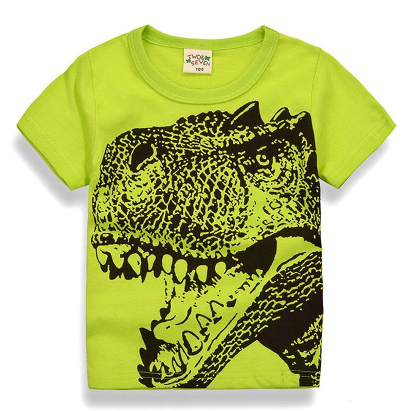 Cool TRex Print Tee! Available in Neon Green, White