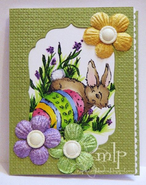 Prickley Pear Rubber Stamps: Rabbit With Egg