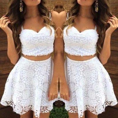 Abiye Elbise Beyaz Kisa Askili Gupur Dantel Gobegi Acik Elbise Kisa Etekli Elbiseler Balo Elbiseleri